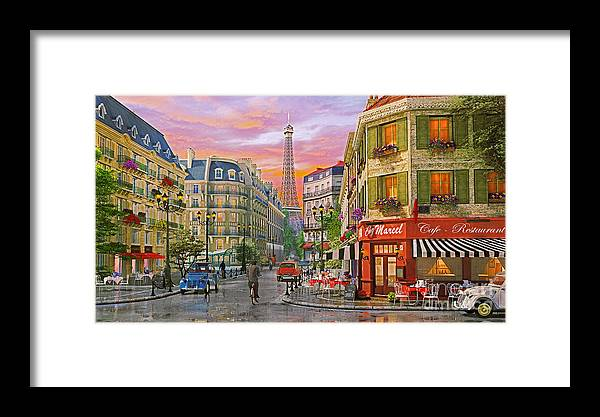 2cv Framed Print featuring the digital art Rue Paris by MGL Meiklejohn Graphics Licensing