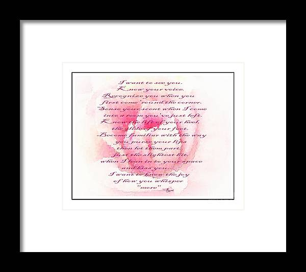 Rumi Quote Framed Print featuring the photograph Rumi Quote - Roses - Love by Barbara Griffin
