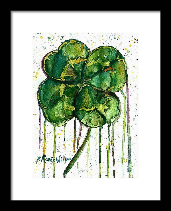 Clover Framed Print featuring the painting Run O' Luck by D Renee Wilson