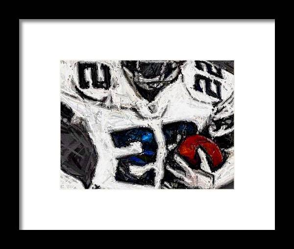 Dallas Cowboys Framed Print featuring the digital art Runner by Carrie OBrien Sibley
