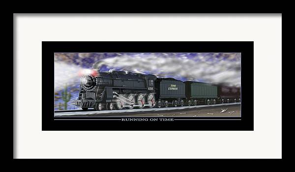 Time Related Art Framed Print featuring the photograph Running On Time by Mike McGlothlen