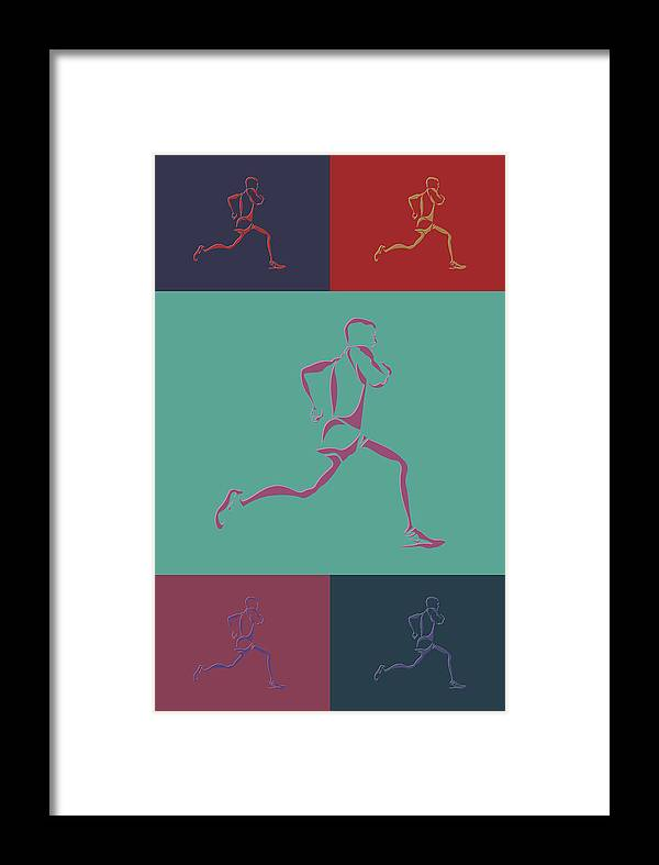 Runner Framed Print featuring the photograph Running Runner3 by Joe Hamilton