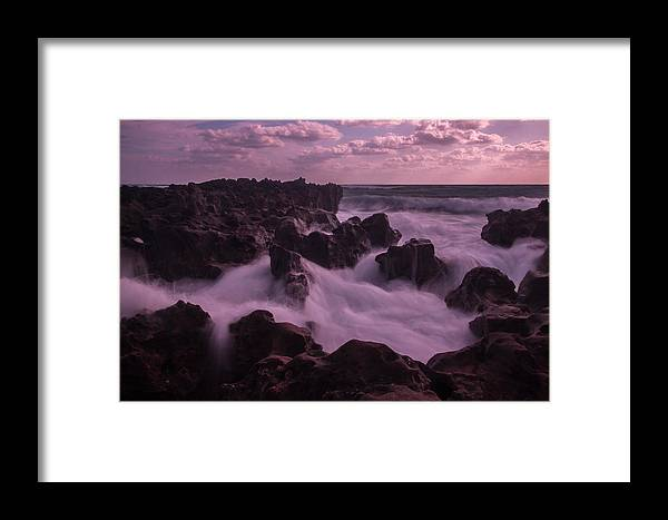 Rocks Framed Print featuring the photograph Running Water by George Kenhan