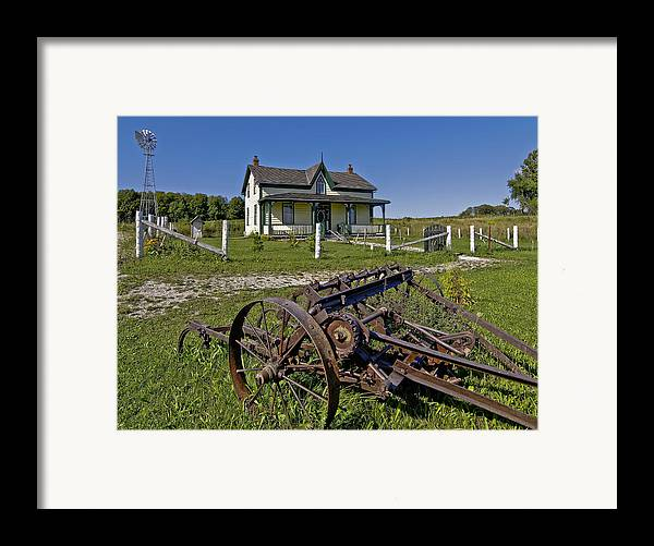 Grey Roots Museum & Archives Framed Print featuring the photograph Rural Ontario by Steve Harrington