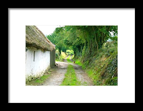 Path Framed Print featuring the photograph Rural Road by Charlie and Norma Brock