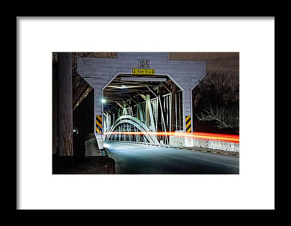 Bridge Framed Print featuring the photograph Rural Rush Hour by Michael Porchik