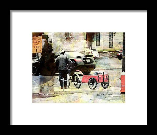 City Scape -main Street Framed Print featuring the photograph Rush -hour by Julika Winkler