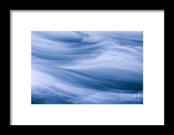 Abstract Framed Print featuring the photograph Rushing River by Bryan Mullennix