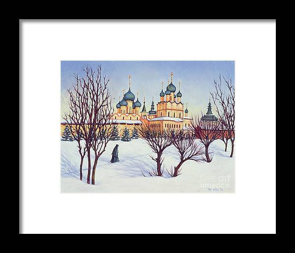 Russian Winter Framed Print featuring the painting Russian Winter by Tilly Willis