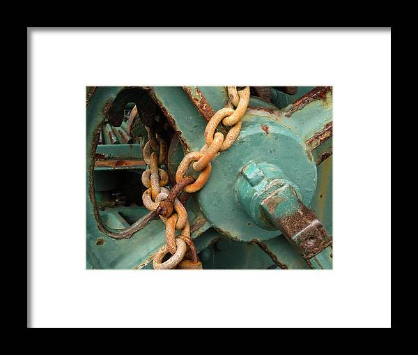 Wheel Framed Print featuring the digital art Rust And Decay by Martin Wall