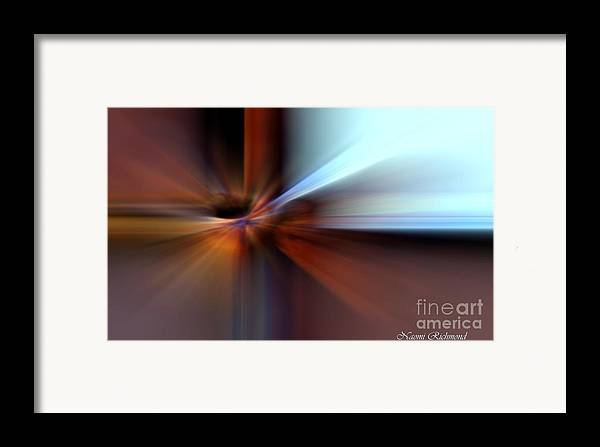 Abstract Framed Print featuring the pyrography Rust Can Be Beautiful IIi by Naomi Richmond