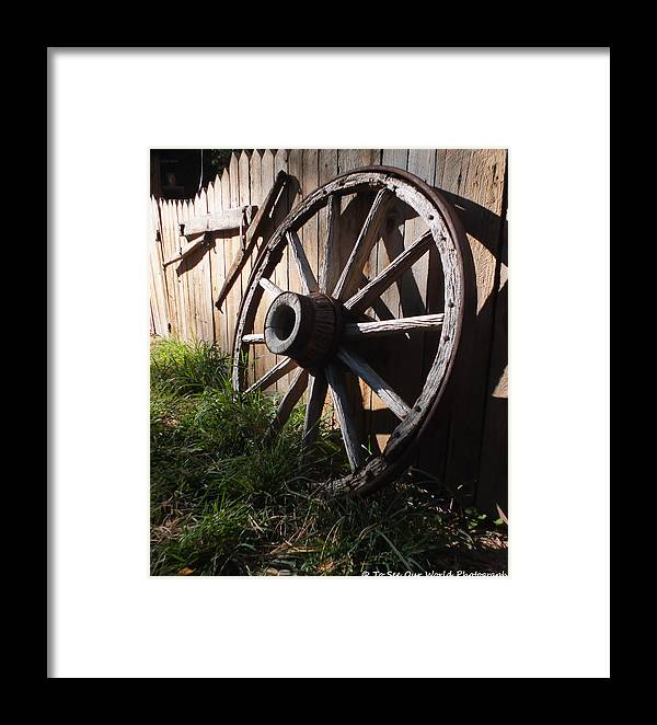 Rustic Framed Print featuring the photograph Rustic Escape by To See Our World Photography