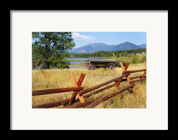 Landscape Framed Print featuring the photograph Rustic Wagon by Marty Koch