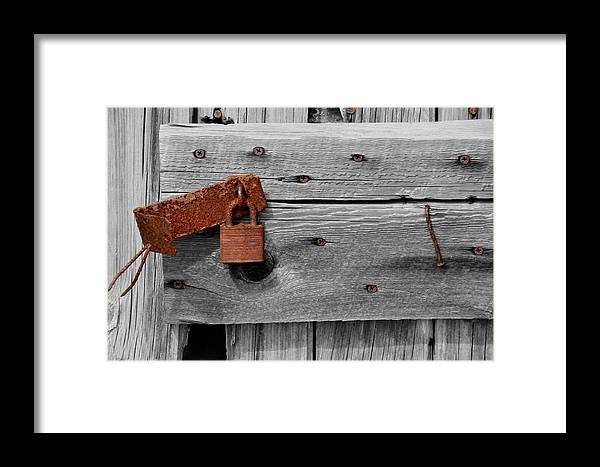 Abstract Framed Print featuring the photograph Rusty And Old 2 by Jeffrey J Nagy