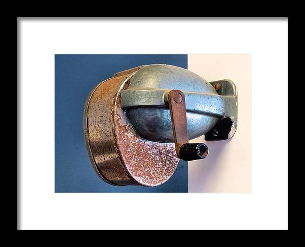 Pencil Sharpener Framed Print featuring the photograph Rusty by Janice Drew