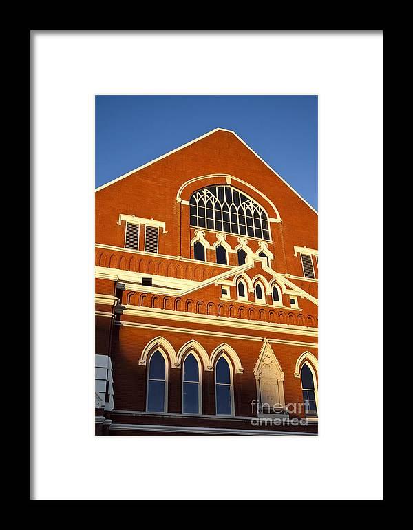 Ryman Auditorium Framed Print featuring the photograph Ryman Auditorium by Brian Jannsen