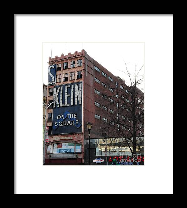 Paul Ward Framed Print featuring the photograph S Klien On The Square by Paul Ward