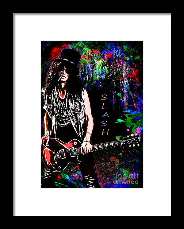 Slash Framed Print featuring the painting S L A S H by Andrzej Szczerski
