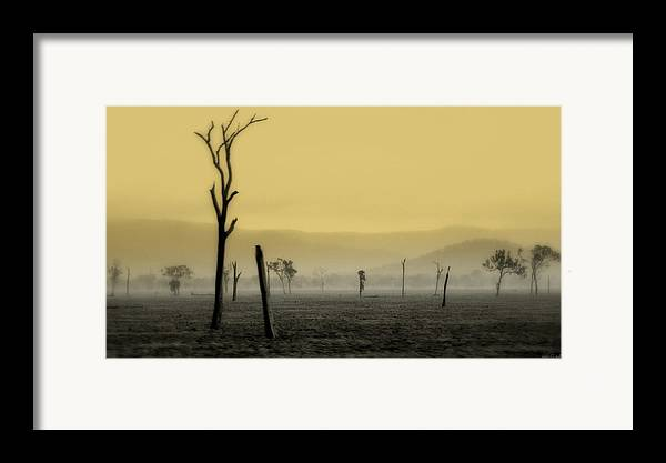 Landscape Framed Print featuring the photograph S P I R I T Land by Holly Kempe