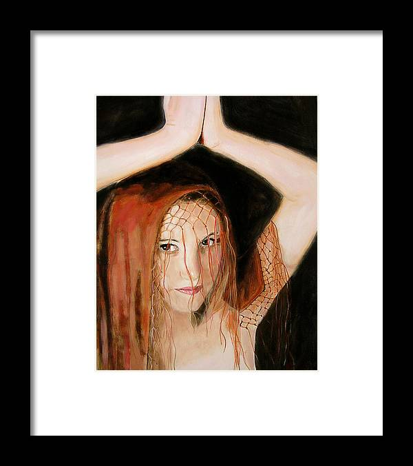Woman Framed Print featuring the painting Sacred Dancer by Jean-Paul Setlak