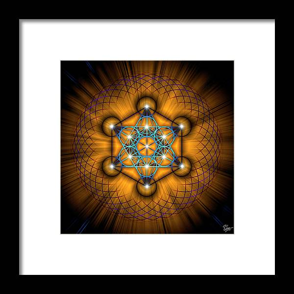 Endre Framed Print featuring the digital art Sacred Geometry 68 by Endre Balogh