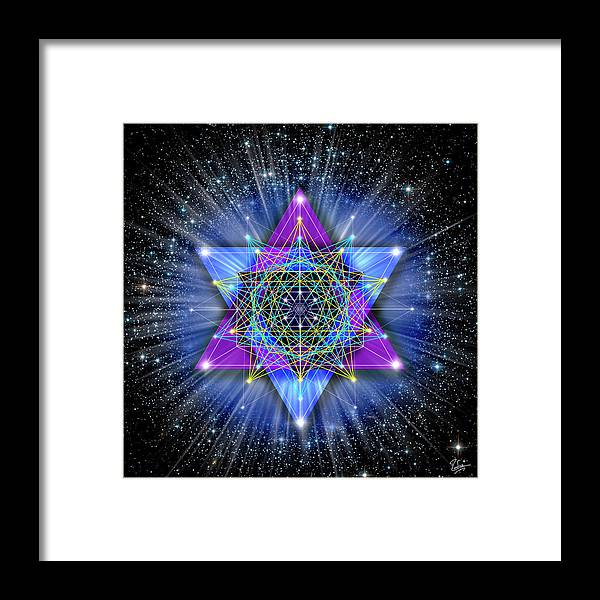 Endre Framed Print featuring the digital art Sacred Geometry 70 by Endre Balogh