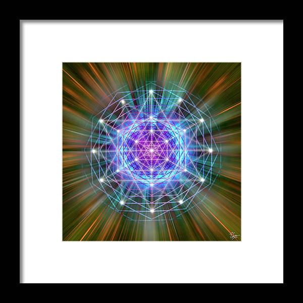 Endre Framed Print featuring the digital art Sacred Geometry 72 by Endre Balogh