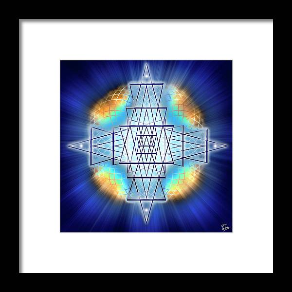 Endre Framed Print featuring the digital art Sacred Geometry 86 by Endre Balogh