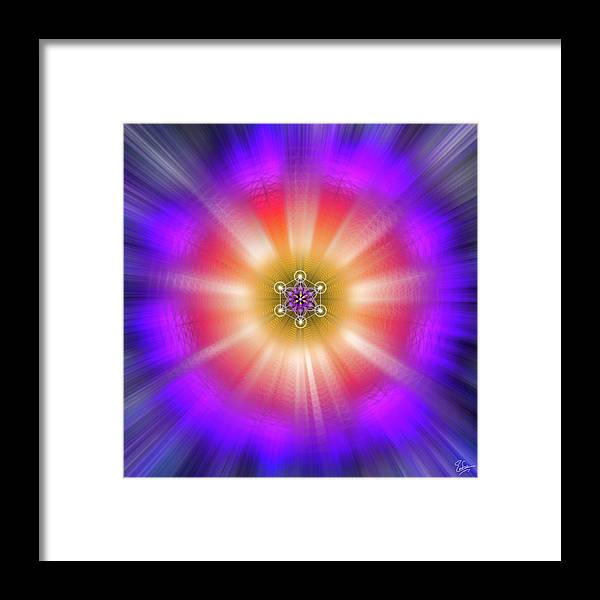 Endre Framed Print featuring the digital art Sacred Geometry 90 by Endre Balogh