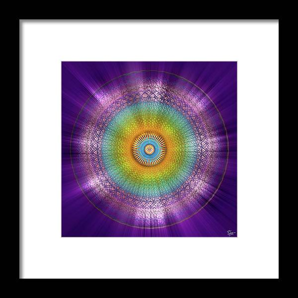 Endre Framed Print featuring the digital art Sacred Geometry 96 by Endre Balogh