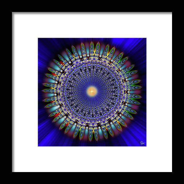 Endre Framed Print featuring the digital art Sacred Geometry 97 by Endre Balogh