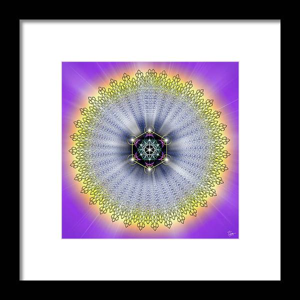 Endre Framed Print featuring the digital art Sacred Geometry 99 by Endre Balogh