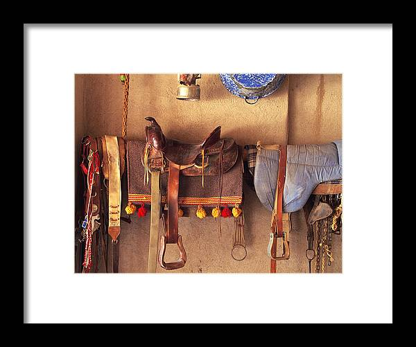Saddle Framed Print featuring the photograph Saddle Up by Rich Franco