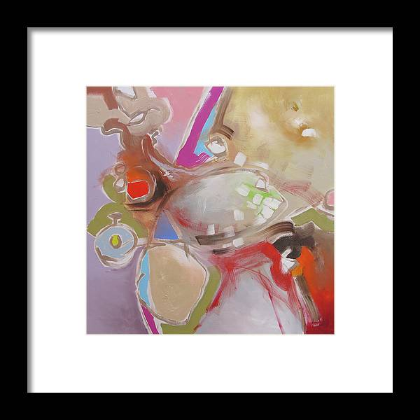 Painting Framed Print featuring the painting Safari by Linda Monfort