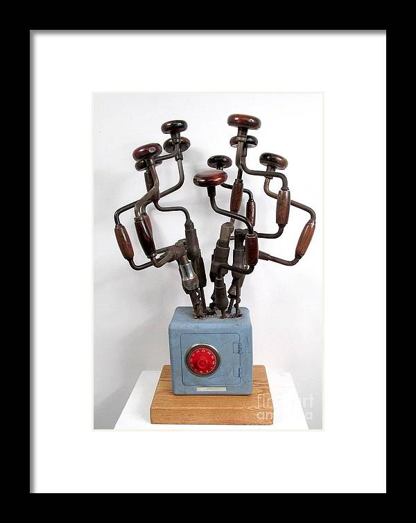 Czappa Framed Print featuring the sculpture Safe Bouquet #62 by Bill Czappa