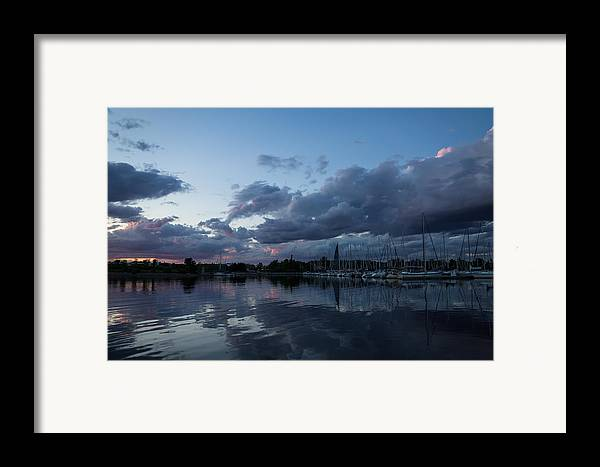 Safe Harbor Framed Print featuring the photograph Safe Harbor After The Storm by Georgia Mizuleva