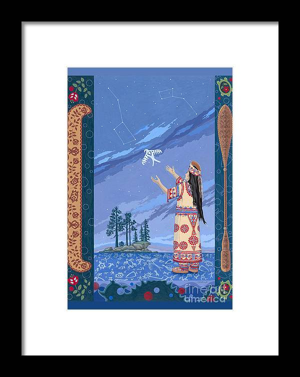 America Framed Print featuring the painting Safe Passage by Chholing Taha