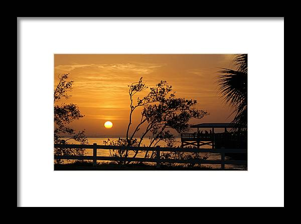 Sunrise Framed Print featuring the photograph Safety Harbor Sunrise by Cliff Cammarata