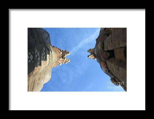 Sagrada Familia Framed Print featuring the photograph Sagrada Familia by Sophie Vigneault
