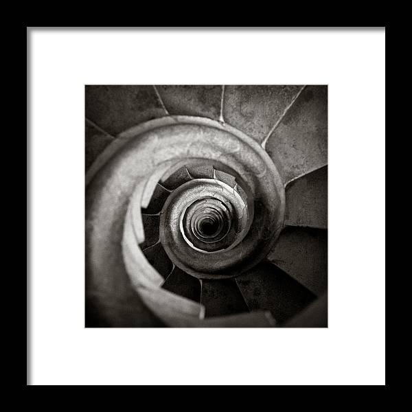 La Sagrada Familia Framed Print featuring the photograph Sagrada Familia Steps by Dave Bowman