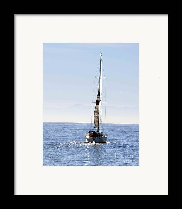 Sailboat Framed Print featuring the photograph Sail Into The Future by Artist and Photographer Laura Wrede