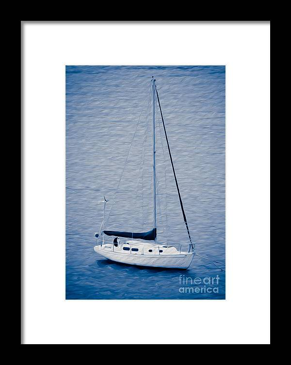 Eastern Caribbean Framed Print featuring the digital art Sailboat Adventure by Kenneth Montgomery