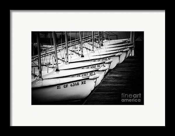America Framed Print featuring the photograph Sailboats In Newport Beach California Picture by Paul Velgos