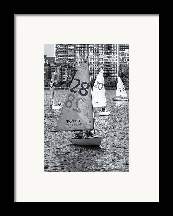 Clarence Holmes Framed Print featuring the photograph Sailboats On The Charles River II by Clarence Holmes