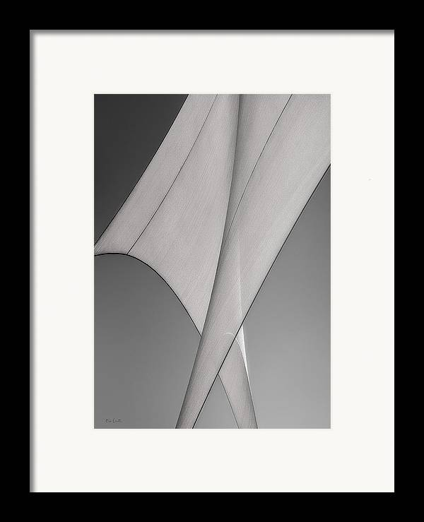 Abstract Framed Print featuring the photograph Sailcloth Abstract Number 3 by Bob Orsillo