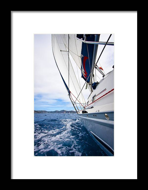 3scape Framed Print featuring the photograph Sailing Bvi by Adam Romanowicz