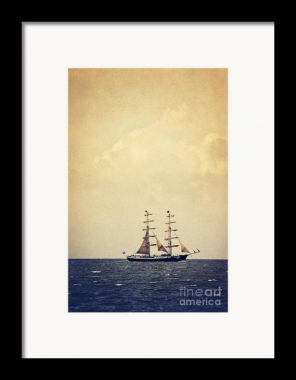 Sailing Framed Print featuring the photograph Sailing II by Angela Doelling AD DESIGN Photo and PhotoArt