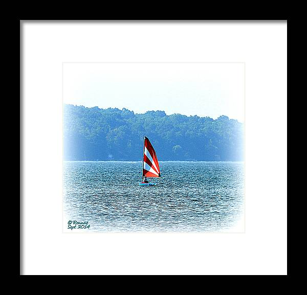 Waterscape Framed Print featuring the photograph Sailing by Rennae Christman