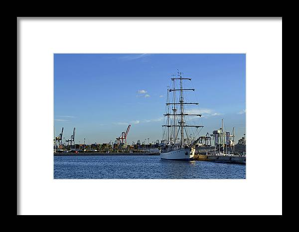 Valencia Framed Print featuring the photograph Sailing Ship by Miguel Ramos