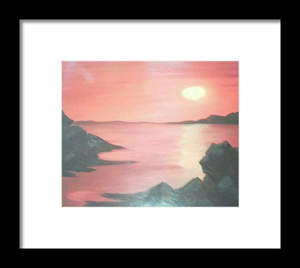 Landscape Framed Print featuring the painting Sailors Delight by Amanda Rardin